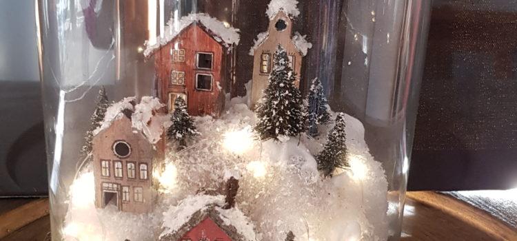 """Rückblick auf den Adventsworkshop """"Winterlandschaft"""" im November 2018"""