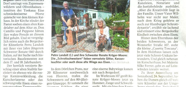 Der WERKRAUM 107 & die Casetta Toscana in der Bergedorfer Zeitung – September 2016