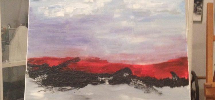 "Impressionen aus dem Kurs ""Experimentelle Malerei"" im Oktober 2016"