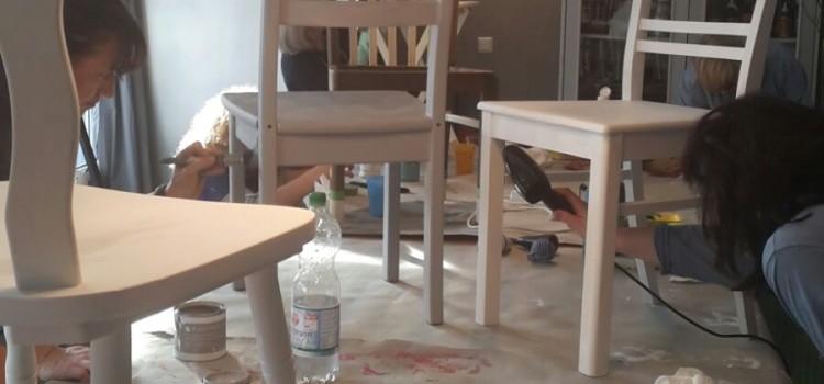 """Impressionen aus dem Workshop """"Designerstühle"""" im Februar 2016"""