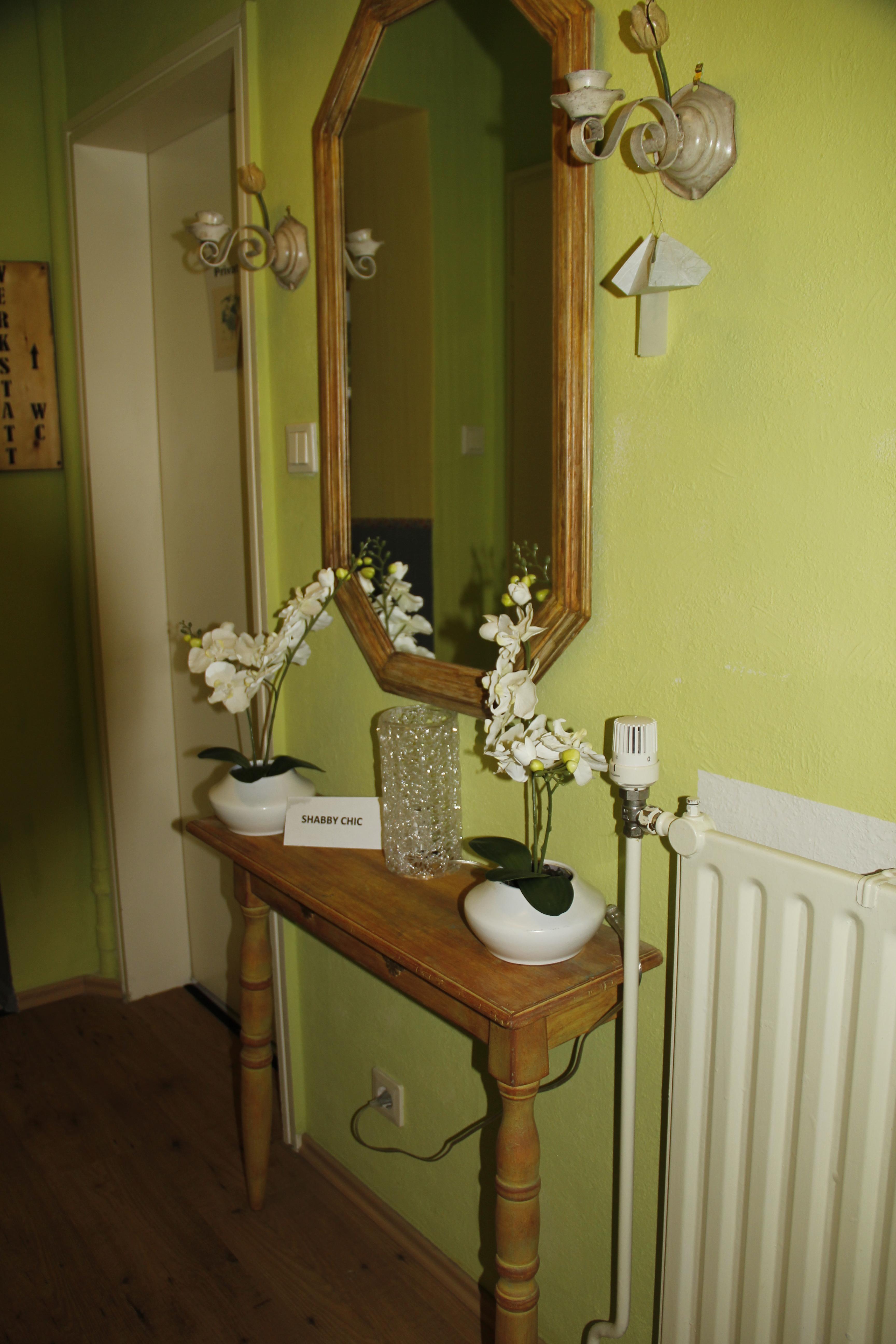 shabby chic tisch spiegel werkraum 107. Black Bedroom Furniture Sets. Home Design Ideas