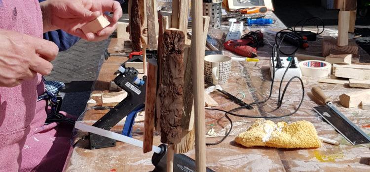 "Eindrücke aus dem Workshop ""Skulpturenbau"" im Mai 2019"